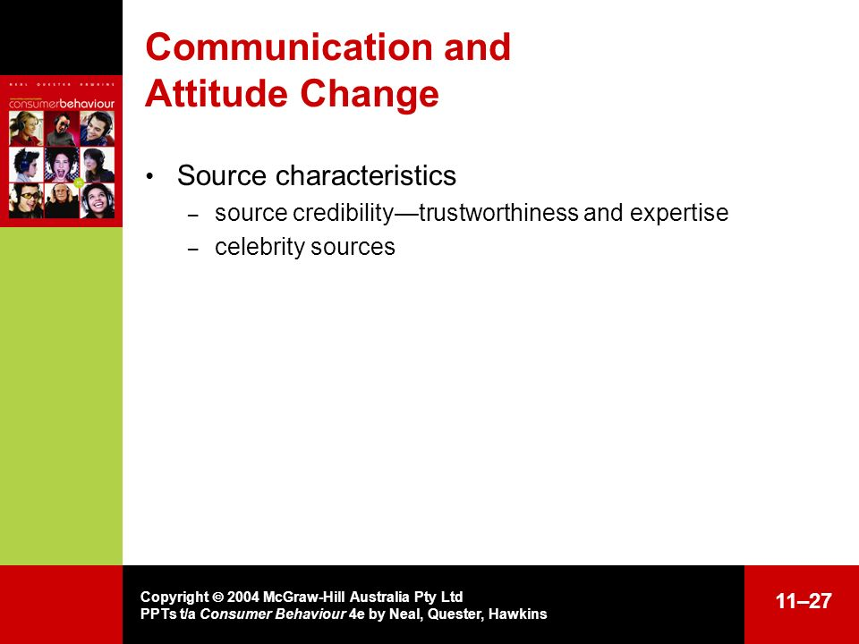 Communication and Attitude Change