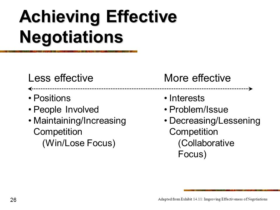 Achieving Effective Negotiations