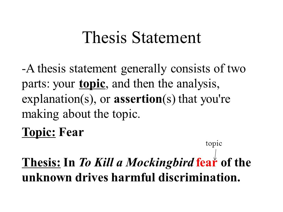 thesis paragraph structure