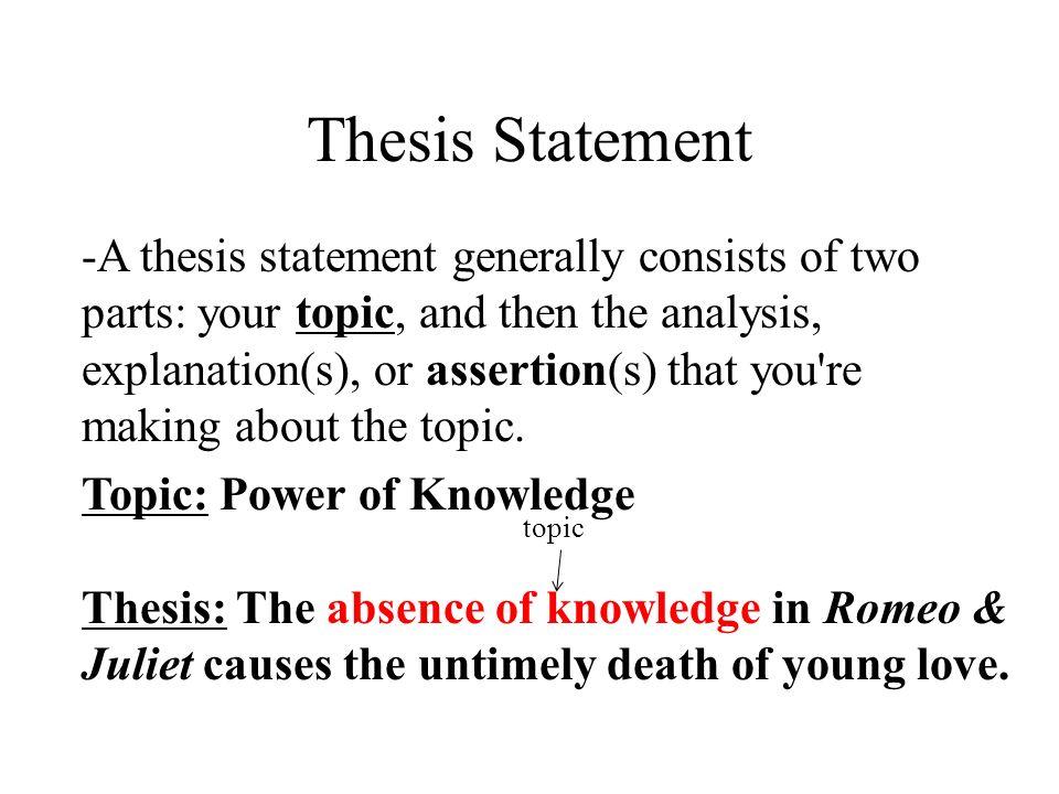love thesis statement romeo juliet