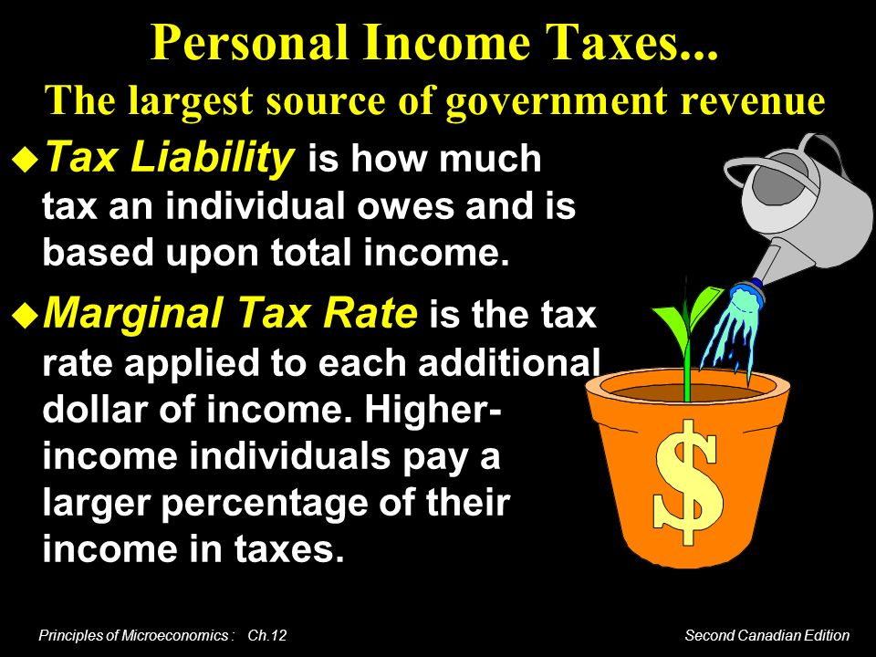 Personal Income Taxes... The largest source of government revenue