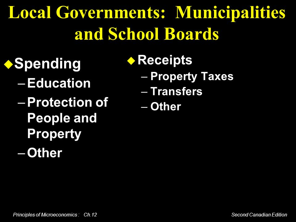 Local Governments: Municipalities and School Boards