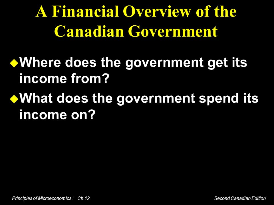 A Financial Overview of the Canadian Government