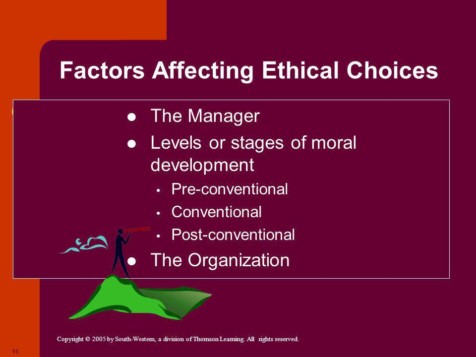 Factors Affecting Ethical Choices