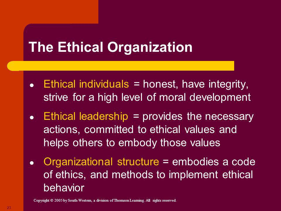 The Ethical Organization