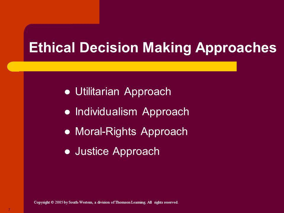 Ethical Decision Making Approaches