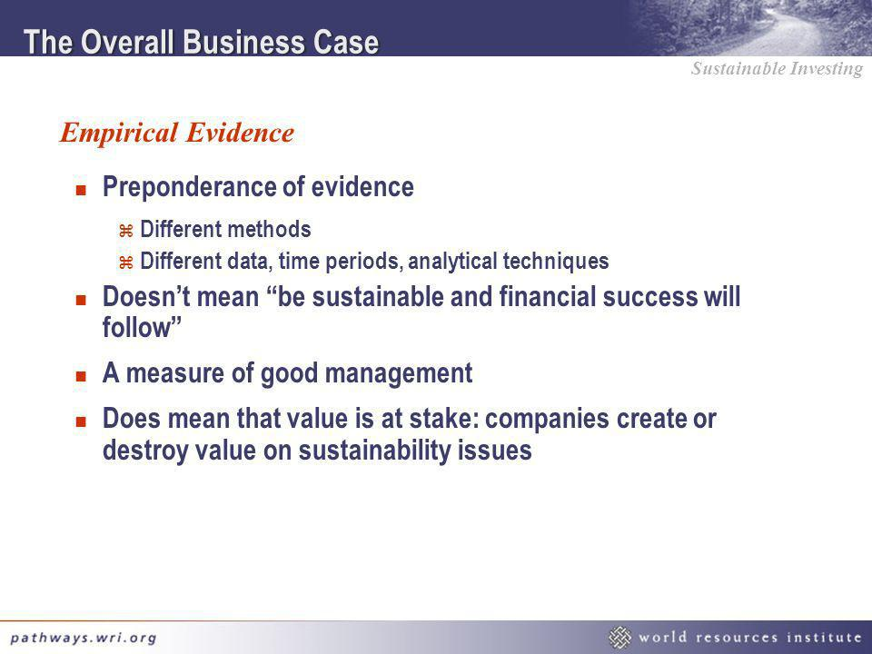 The Overall Business Case