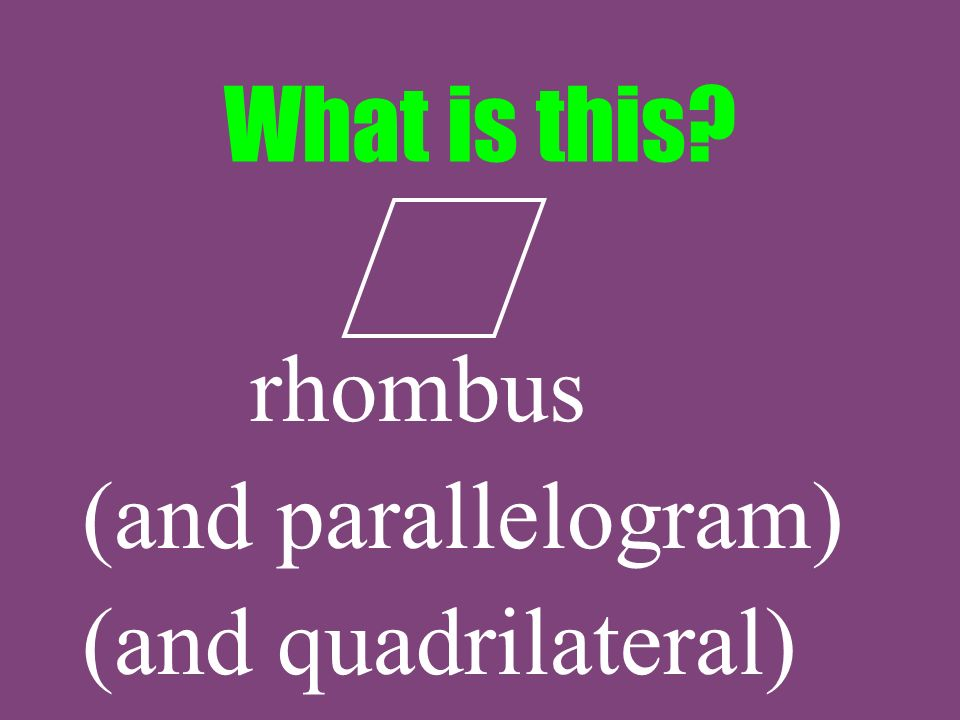 What is this rhombus (and parallelogram) (and quadrilateral)