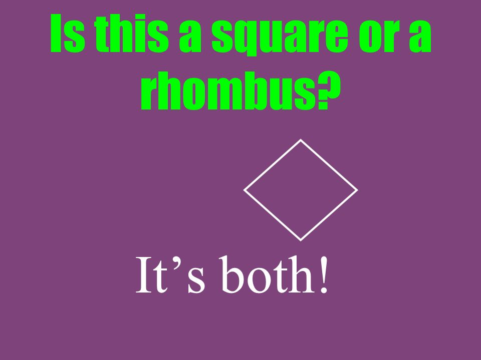 Is this a square or a rhombus