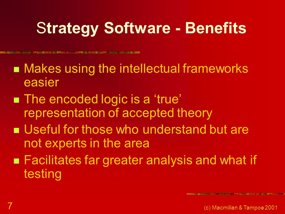 Strategy Software - Benefits