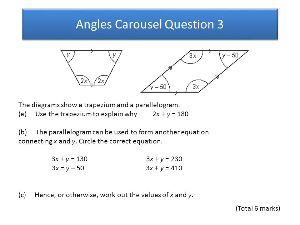 Angles Carousel Question 1 - ppt download
