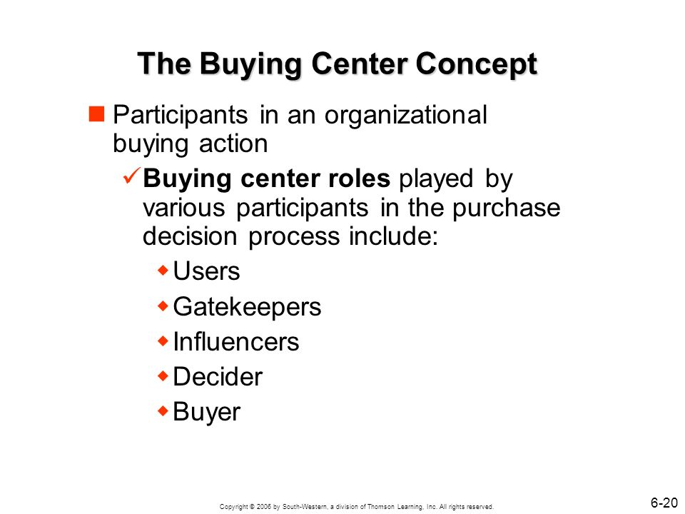 The Buying Center Concept