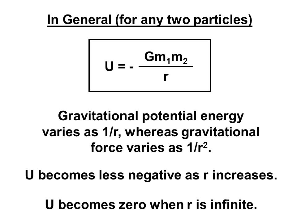 In General (for any two particles)
