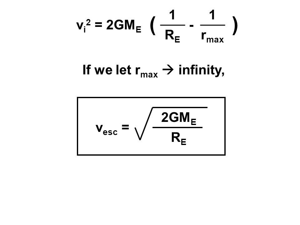 If we let rmax  infinity,