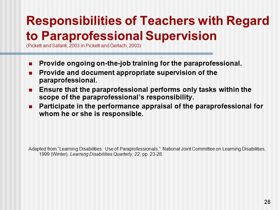 When Is Use Of Paraprofessionals >> Definition Mn Definitions For Special Education Ppt Video