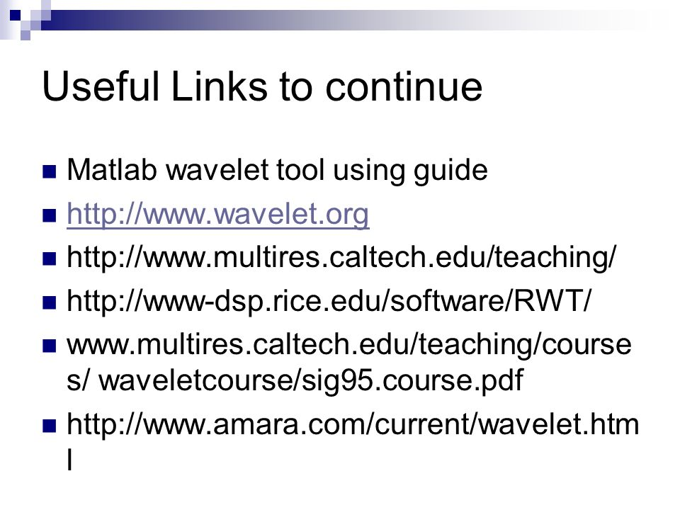 Wavelets: theory and applications - ppt video online download