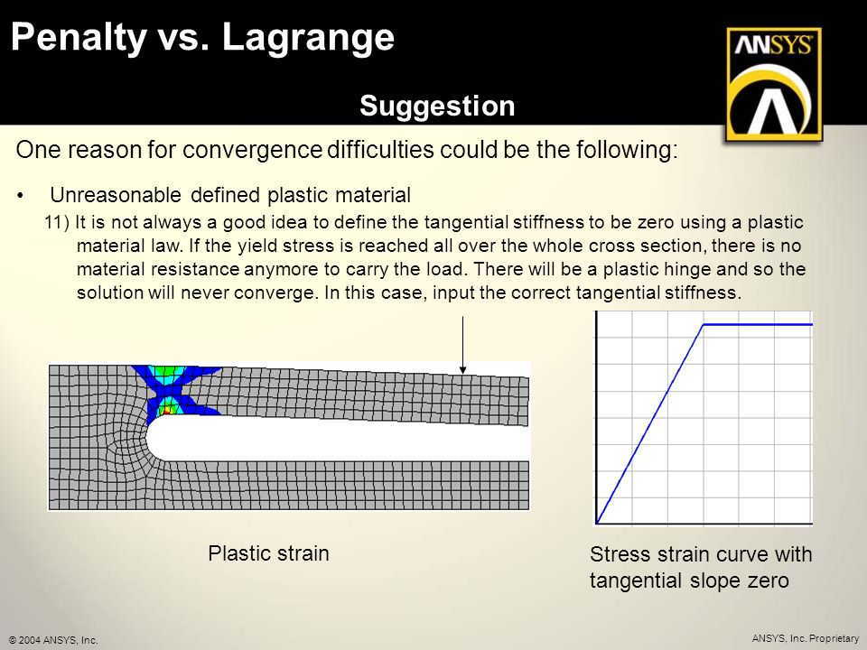 ANSYS contact - Penalty vs  Lagrange - How to make it