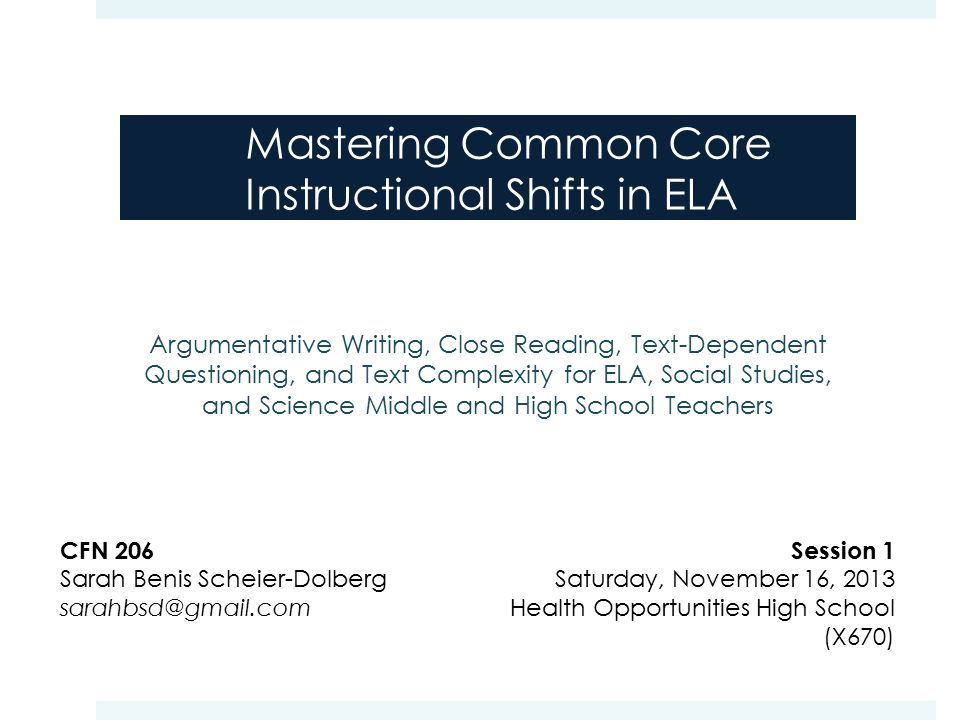 Mastering Common Core Instructional Shifts In Ela Ppt Download