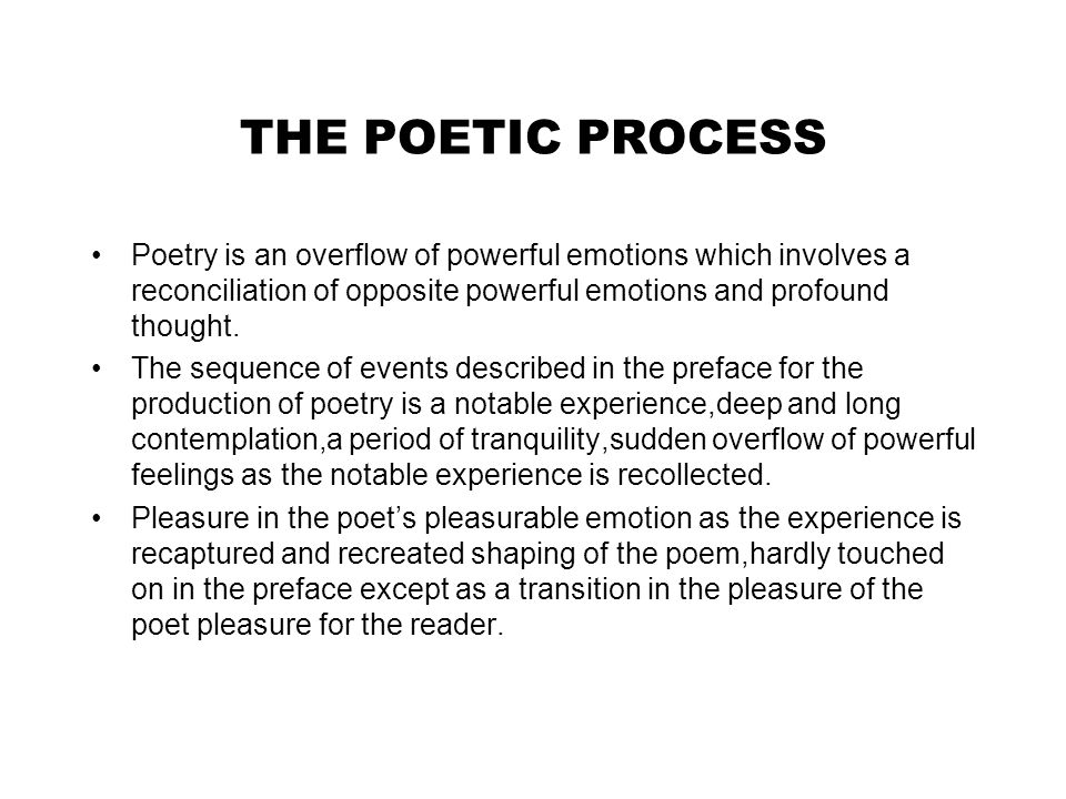 william wordsworth theory of poetry