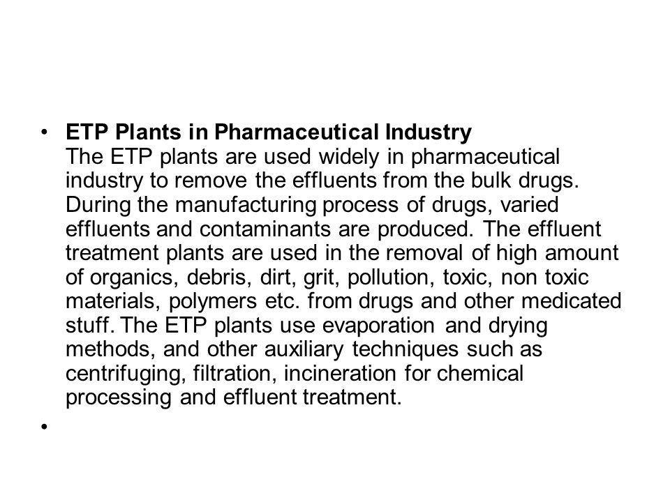 Effluent Treatment Solutions for Pharmaceutical & Bulk Drug