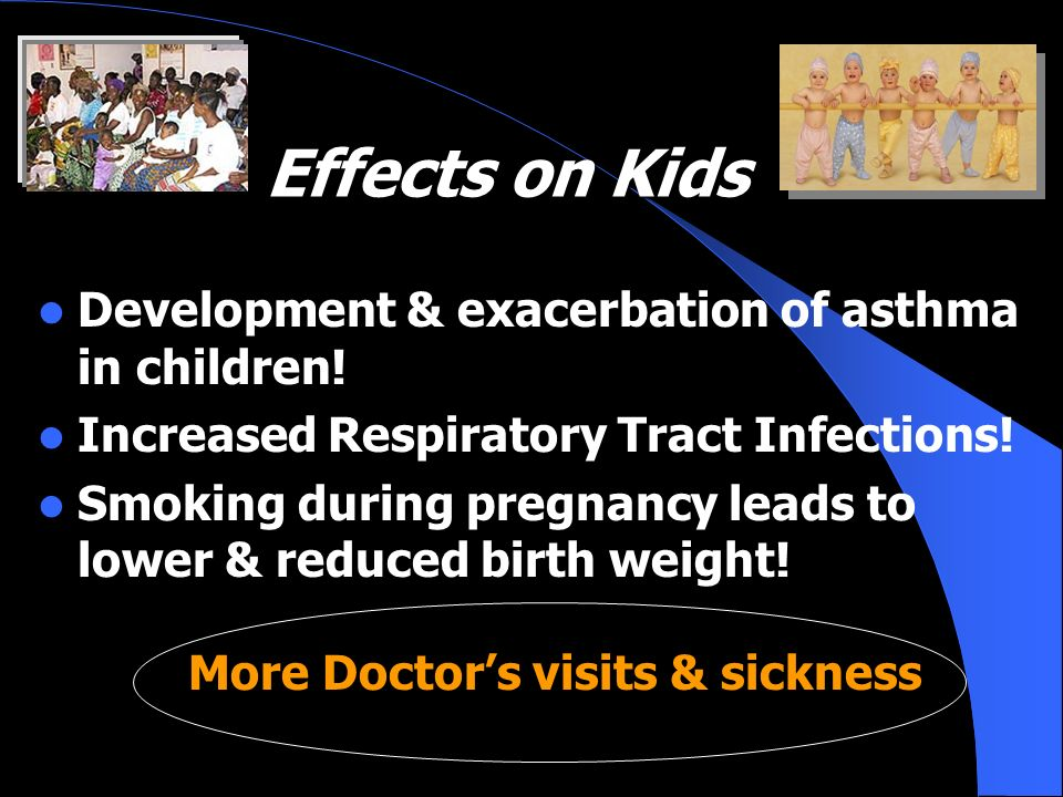 Effects on Kids Development & exacerbation of asthma in children!