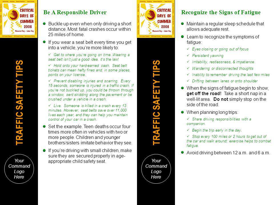 Be A Responsible Driver Recognize the Signs of Fatigue