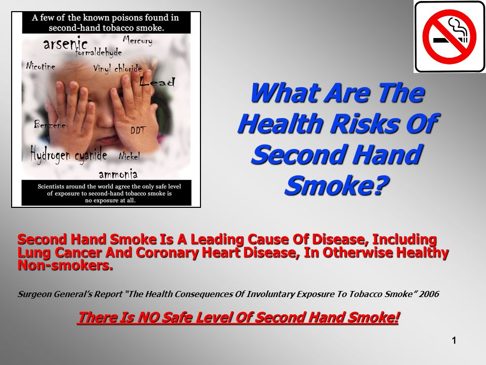 What Are The Health Risks Of Second Hand Smoke
