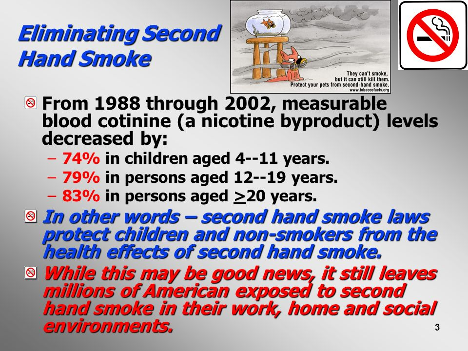 Eliminating Second Hand Smoke