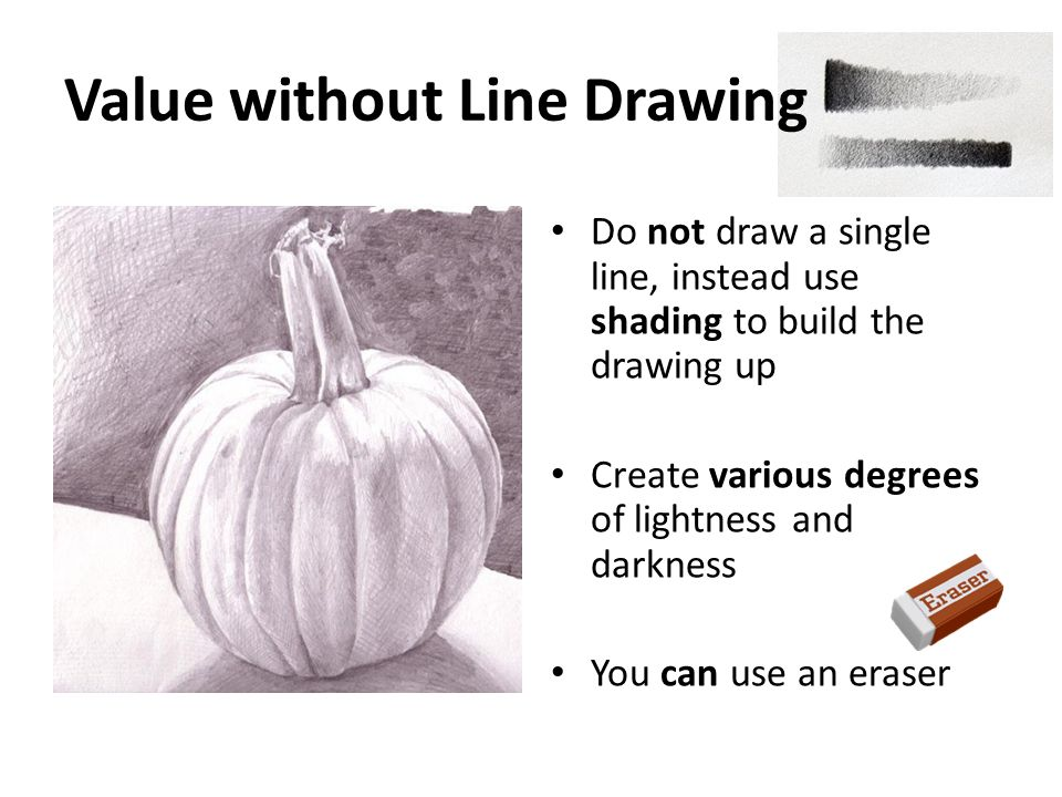 Value without Line Drawing