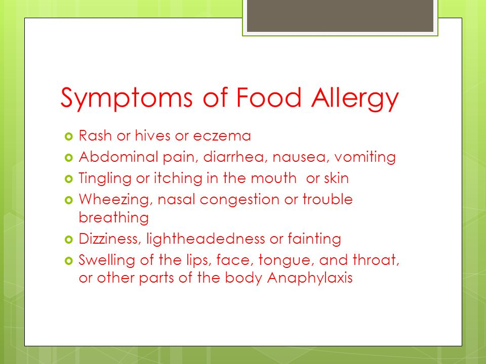 Food Allergies Food Intolerances And Disabilities Ppt
