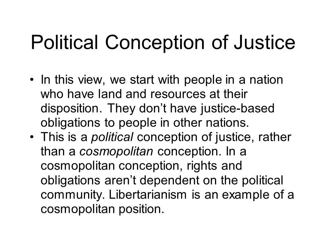 Political Conception of Justice