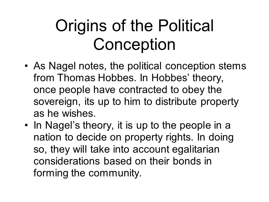 Origins of the Political Conception