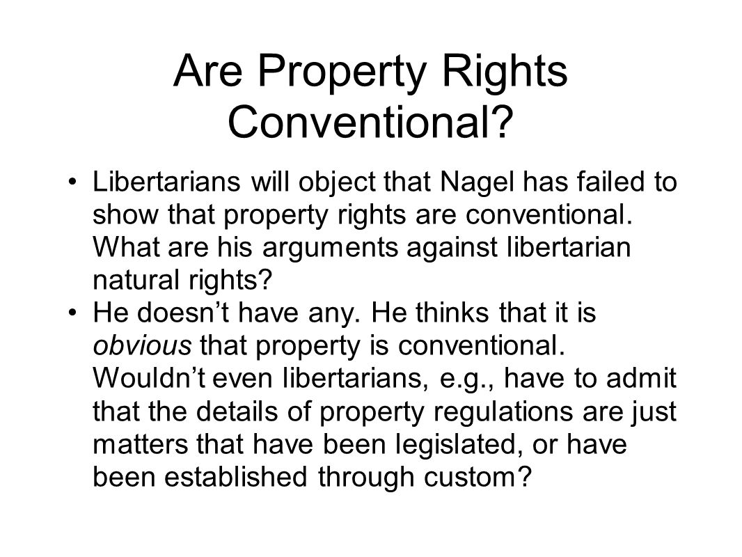 Are Property Rights Conventional