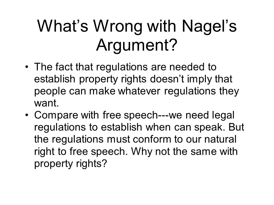 What's Wrong with Nagel's Argument