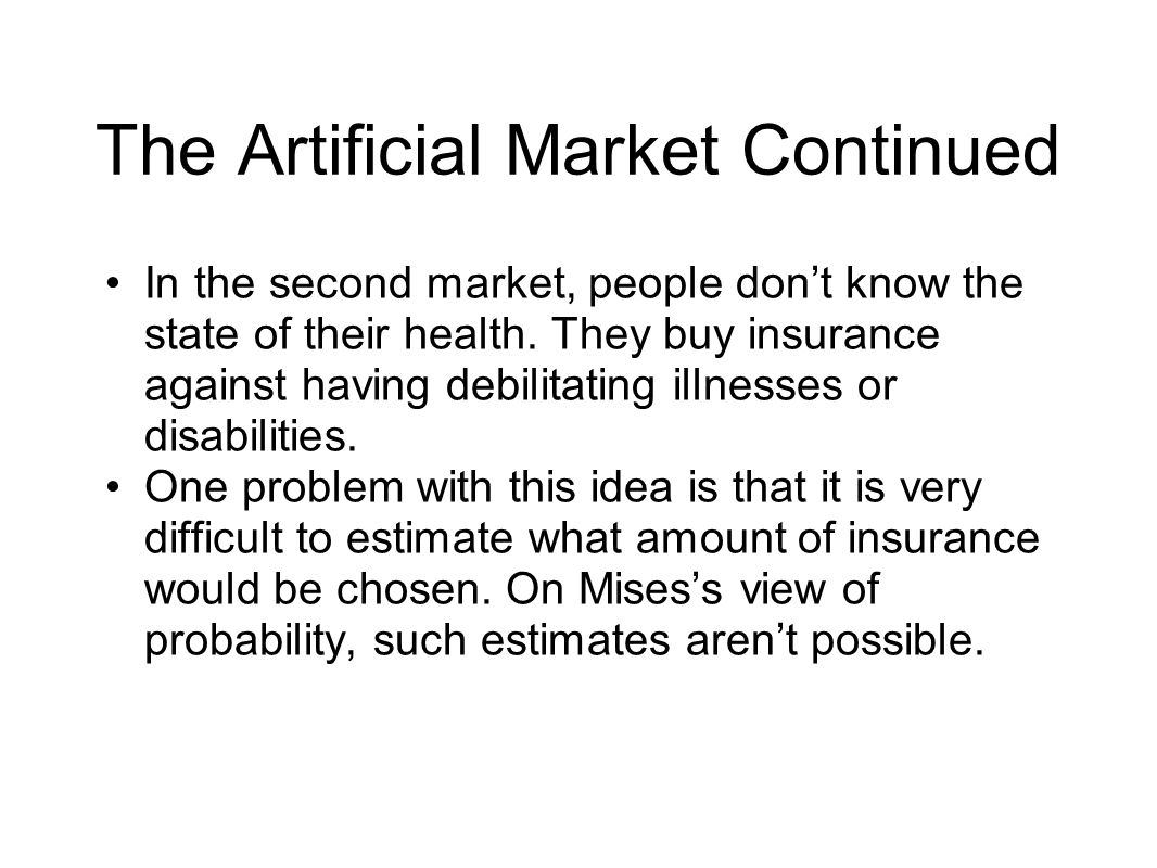 The Artificial Market Continued