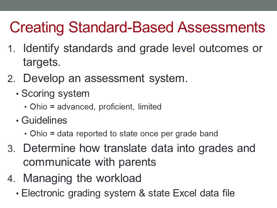 Creating Standard-Based Assessments