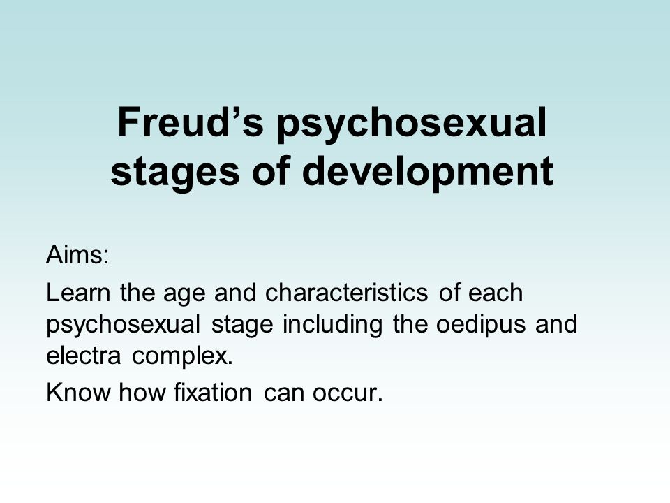 Oedipus complex psychosexual stage