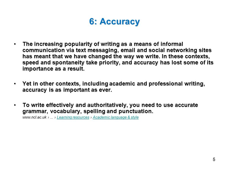 features of academic writing style