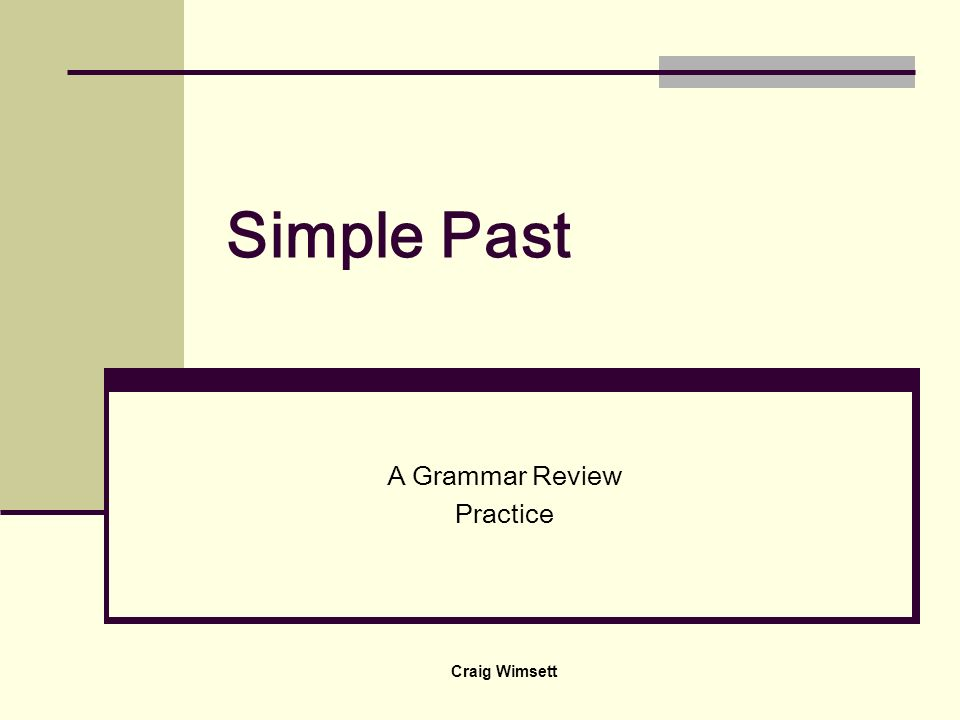 A Grammar Review Practice