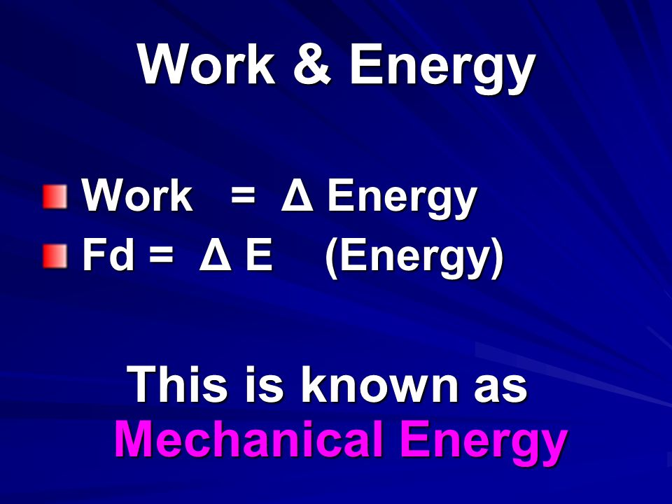 This is known as Mechanical Energy