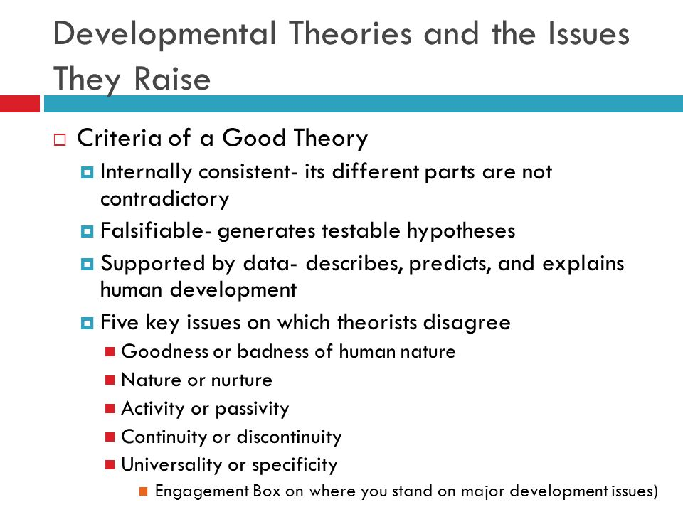 3 explain how theories of development But a strict learning theory doesn't explain how children are able to produce words they've never heard before or produce unique sentences so we have another theory called the interactionist approach.