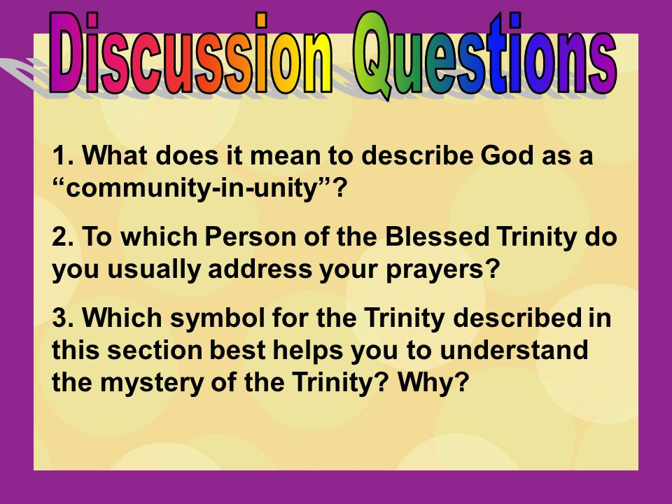 The Holy Spirit And Blessed Trinity Ppt Video Online Download