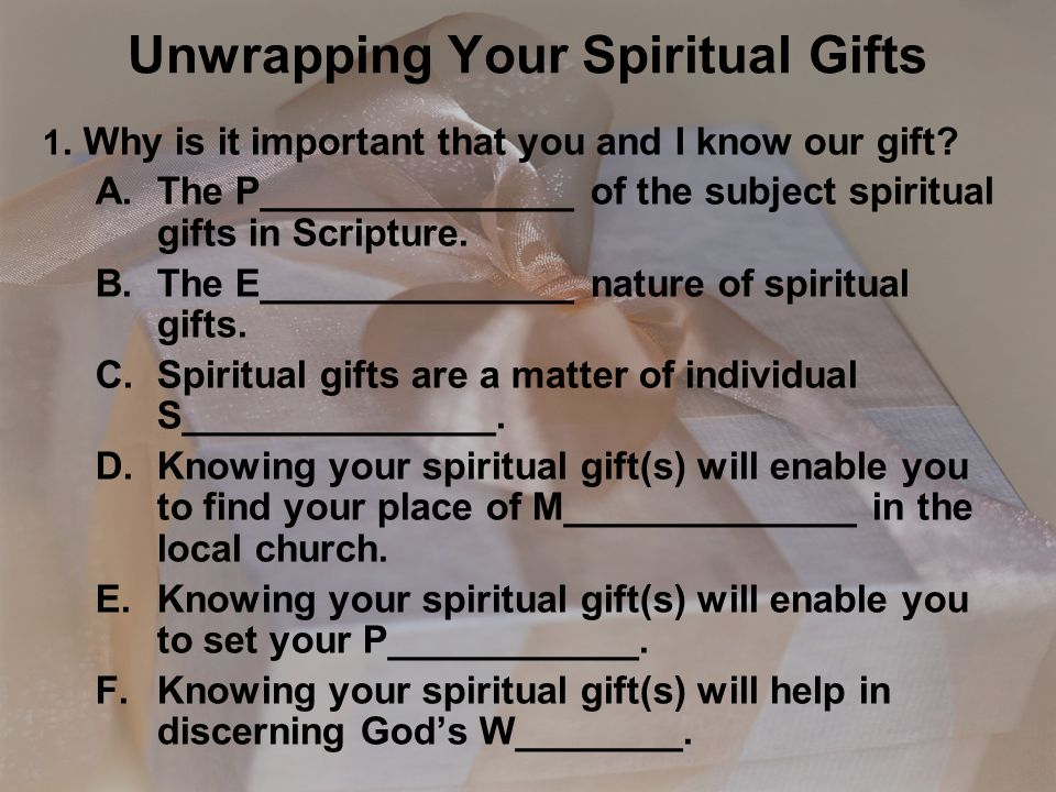 Unwrapping your spiritual gifts ppt video online download unwrapping your spiritual gifts negle Image collections
