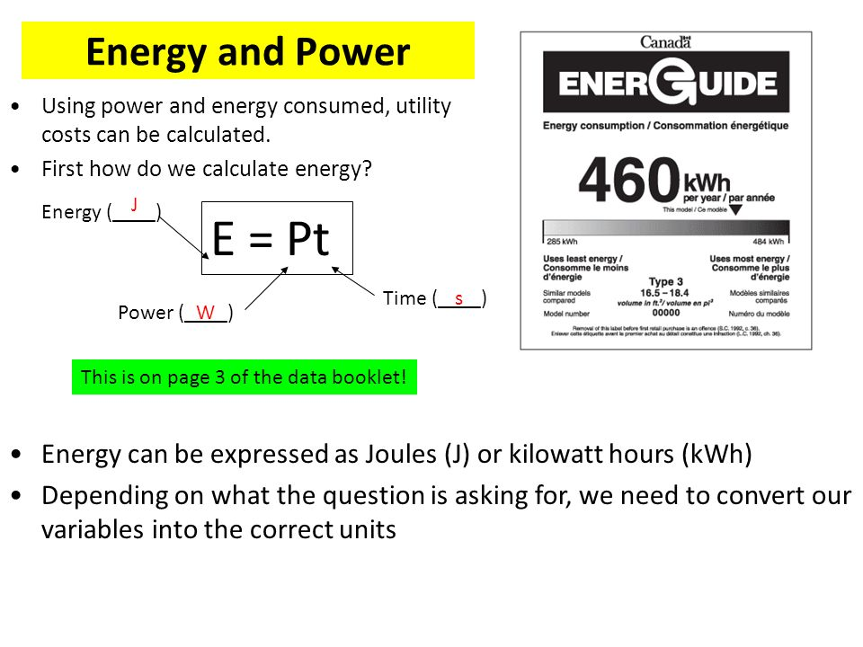 Energy And Using Consumed Utility Costs Can Be Calculated First