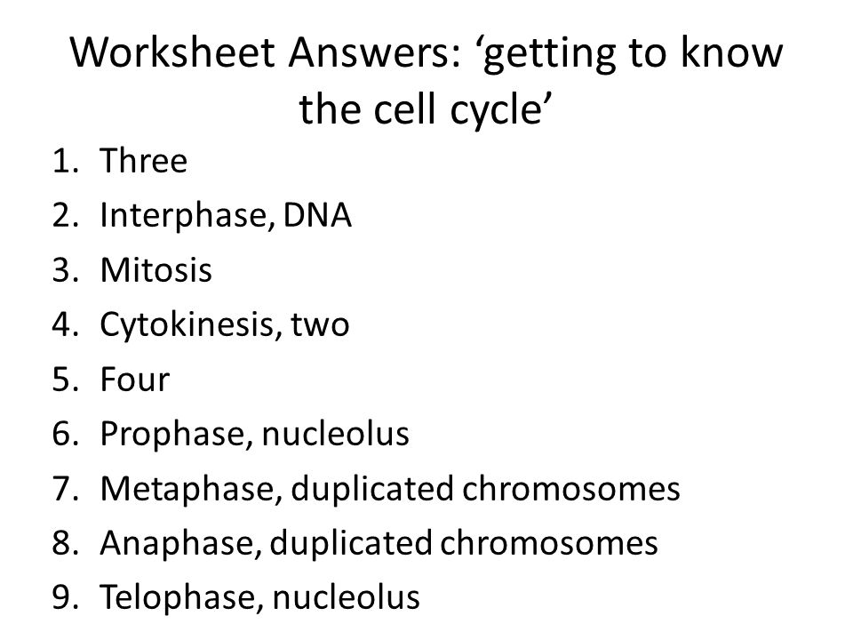 The Cell Cycle Science 9 Lesson 6 Ppt Video Online Download