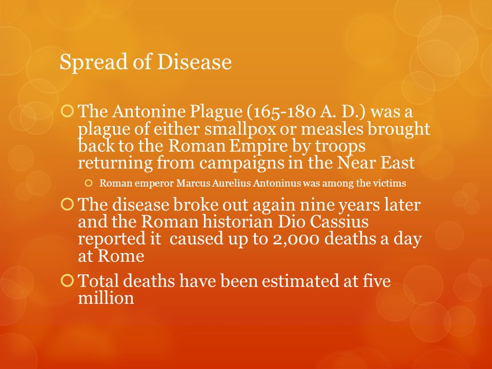 Spread of Disease