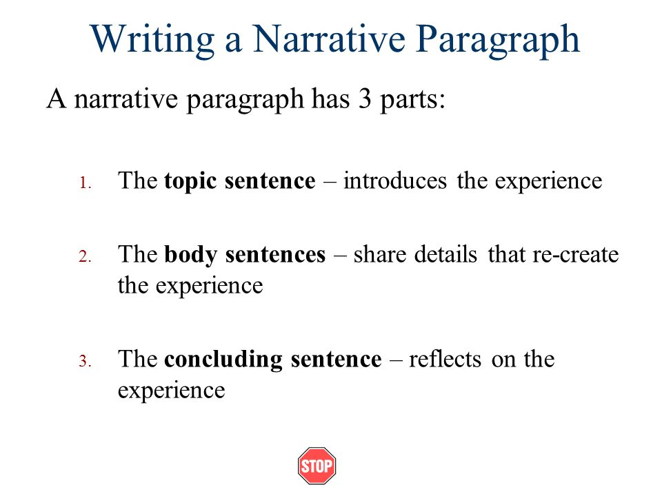 THE NARRATIVE PARAGRAPH PDF