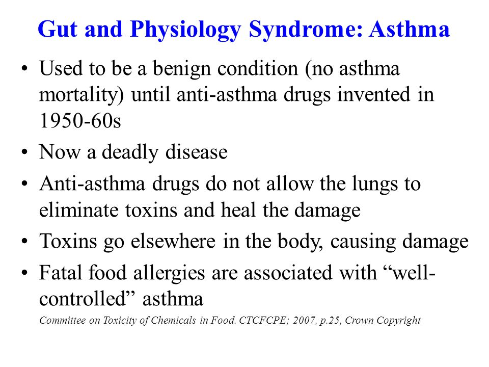 Gut and Physiology Syndrome: Asthma