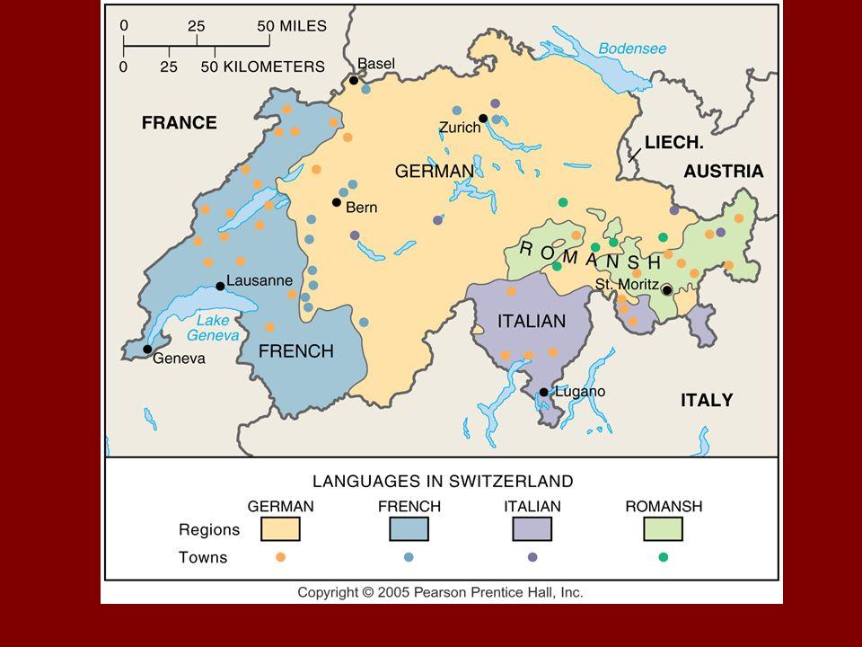 67a4299b5a1c73 W Szwajcarii obowiązują aż cztery języki urzędowe: niemiecki, francuski,  włoski i retoromański. W kraju obowiązuje podział językowy, który został  ustalony ...