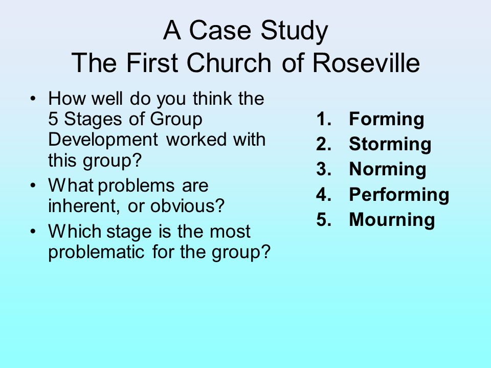 A Case Study The First Church of Roseville